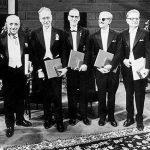 Leloir junto a los otros galardonados con el Premio Nobel en 1970