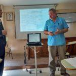 Doctor Gabriel Lijteroff (der.), jefe de Diabetología del Hospital Santamarina de Monte Grande y director del comité científico de la Federación Argentina de Diabetes (FAD).