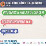 """""""Nosotros Podemos, Yo Puedo"""" es el lema de la campaña global de concientización que impulsa la Unión Internacional contra el Cáncer. La iniciativa busca promover la idea de que se pueden hacer muchas cosas para reducir el impacto de esa enfermedad."""