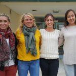 Cuatro de seis coautoras del estudio: Candela Paesani (izq.), Gabriela Pérez, Lorena Sciarini y Mariela Bustos, del Instituto de Ciencia y Tecnología de los Alimentos Córdoba, que depende del CONICET y de la Universidad Nacional de Córdoba.