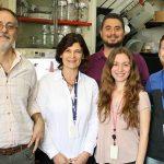 Eduardo Castaño (Izq.), Laura Morelli, Pablo Galeano, Pamela Martino Adami  y Federico Prestia, investigadores del Instituto Leloir que participan del estudio internacional.