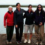 Algunas autoras del estudio, las doctoras María Arribére, Romina Juncos, Marina Arcagni y Andrea Rizzo, del Centro Atómico Bariloche.