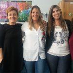 Algunas autoras del paper, Adriana Seilicovich (izq.), Marianela Candolfi, Mariela Moreno Ayala, Florencia Gottardo y Antonela Asad, del Instituto de Investigaciones Biomédicas (UBA-CONICET).