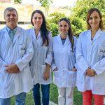 Autores del estudio,  los doctores Nelson Rubén Grosso, Valeria Nepote,  Claudia Asensio y Paula Martin, del Instituto Multidisciplinario de Biología Vegetal, dependiente de la Universidad Nacional de Córdoba y del CONICET.