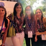 Sofía Noli Truant (izq.), Marisa Fernández, María Belén Sarratea y María Belén Antonoglou, del Instituto de Estudios de la Inmunidad Humoral (FFyB de la UBA –CONICET).