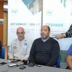 Conferencia de prensa en CENPAT-CONICET sobre el varamiento de los delfines.  Créditos: Área de Comunicación del CCT CONICET-CENPAT.