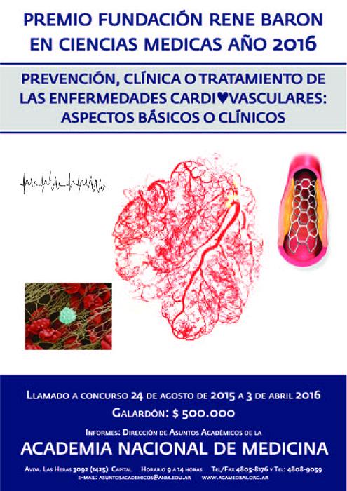 Premio Fundación René Baron en Ciencias Médicas 2016