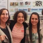 Celina Bernal (izq.), Lucia Famá, Carolina Medina Jaramillo y Silvia Goyanes, investigadoras del CONICET y de la UBA.