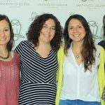 La doctora Vanesa Gottifredi, jefa del Laboratorio de Ciclo Celular y Estabilidad Genómica del Instituto Leloir, en Buenos Aires, con Sabrina Mansilla, Agustina Bertolin y Marina González Besteiro, integrantes de su grupo que participaron del estudio.