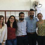 Integrantes del Laboratorio de Péptidos Bioactivos liderado por la doctora Georgina Tonarelli (der.) en el Departamento de Química Orgánica de la Facultad de Bioquímica y Ciencias Biológicas de la Universidad Nacional del Litoral.