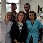 Algunos autores del estudio, Magalí Barchuk, Gabriela Berg, Bibiana Fabre, Diego González y Nahuel Fernández Machulsky, investigadores de la UBA.
