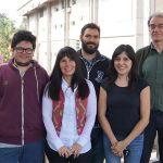 Los autores del estudio e integrantes del NanoProject, Oscar Marín (izq.), Mónica Tirado, Ezequiel Tosi, Nadia Vega y David Comedi.