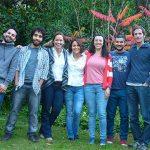 Algunos autores del estudio, Carlos García-Mata (der.), Juan Martín D'Ambrosio, Denise Scuffi, Gabriela Gonorazky, Ana M. Laxalt, Luciano Di Fino y Andrés Arruabarrena.