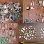 Macro-plásticos colectado de tan solo una transecta (50 m de largo por 5 m de ancho), ubicada sobre la margen izquierda de la laguna Setúbal (Santa Fe). Créditos: Gentileza del Dr. Martín Blettler.