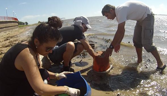 Alertan sobre los residuos plásticos en la laguna Setúbal de Santa Fe