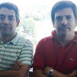 Adrián Turjanski (izq.), investigador del Instituto de Química Biológica de la Facultad de Ciencias Exactas y Naturales de la UBA, y Darío Fernández Doporto, del Instituto de Cálculo de la misma facultad.