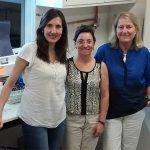 Las doctoras Mariana Pérez Ibarreche (Izq.), Patricia Castellano y Graciela Vignolo,del Centro de Referencia para Lactobacilos, que depende del CONICET.