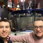 Los doctores José A. Alonso (der.), del Instituto de Ciencia de Materiales de Madrid, y Carlos López, investigador del CONICET y de la Universidad Nacional de San Luis.